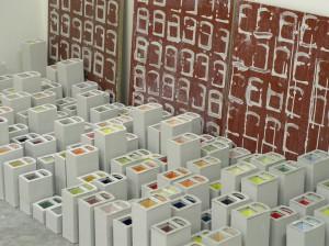 Zero walls. Ceramic installation size variable 2006